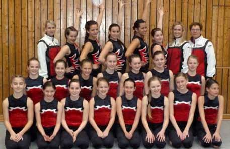 Mädchenriege bei den Gau-Mannschaftswettkämpfen am 18. März 2012 in Königshofen