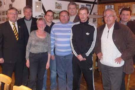 Der Vorstand der Tennisabteilung (2013)
