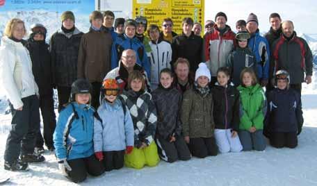 Teilnehmer der Skifreizeit, Axamer Lizum 2012