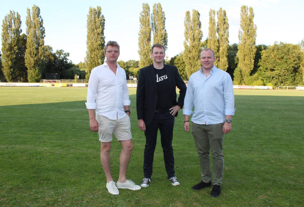 Bild zeitgt den neuen Vorstand von links Thomas Nuss, Alexander Geuking und Niklas Uftring